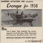 Sanders 1950 Flying Magazine Ad