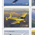 American Advances in Aviation postage stamps