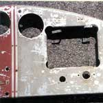 Closeup of Front of Glove Box Cutout