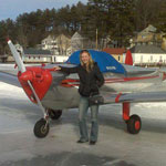 My Ercoupe Parked on the Ice at Alton Bay