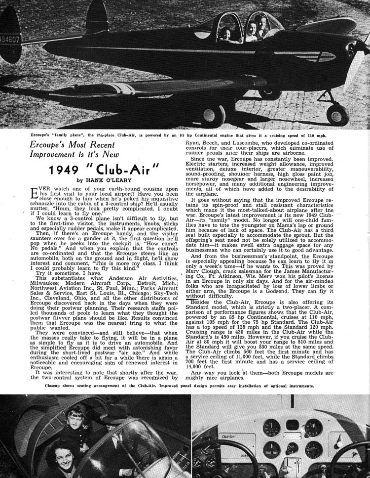 Personal Flying Magazine Club-Air Review 1949
